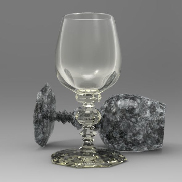 Octagonal Crystal Wine Glass