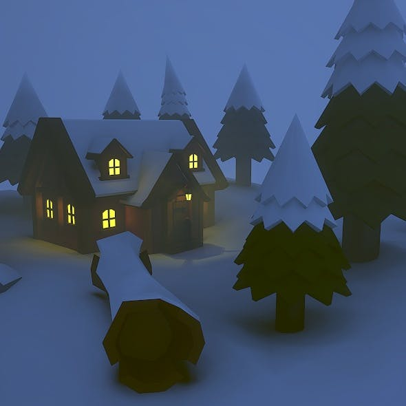 Low Poly Hut