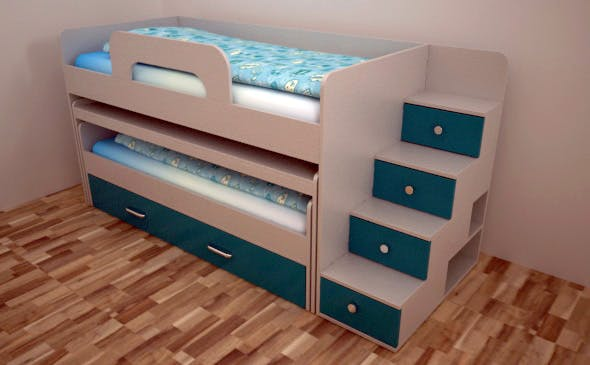 Magic bed fo two child - 3DOcean Item for Sale