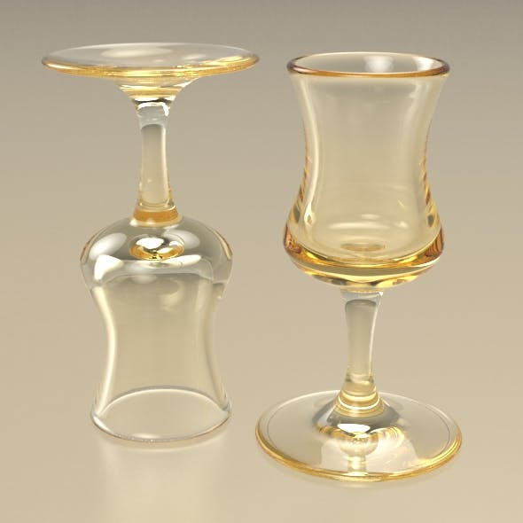 Classic Clean-Lined Spirit Glass - 3DOcean Item for Sale