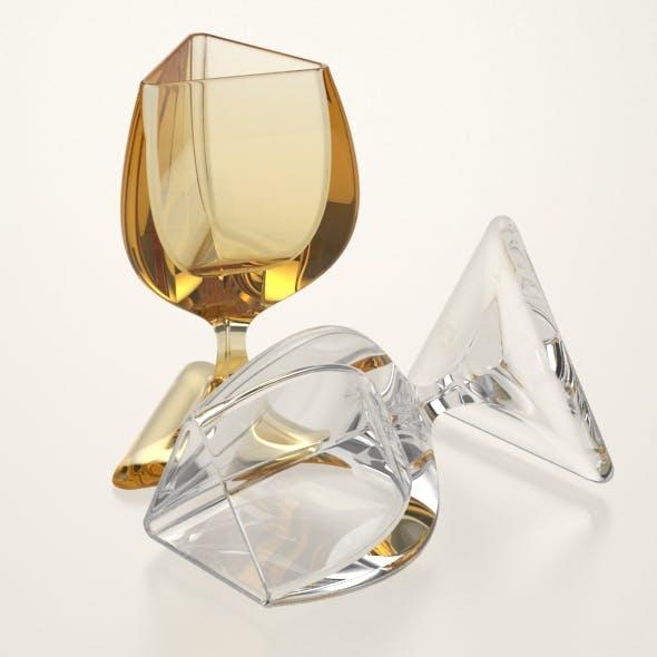 Triangular Wine Glass - 3DOcean Item for Sale