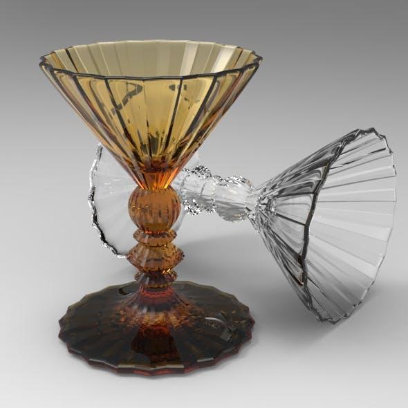 Twenty Star Martini Glass - 3DOcean Item for Sale