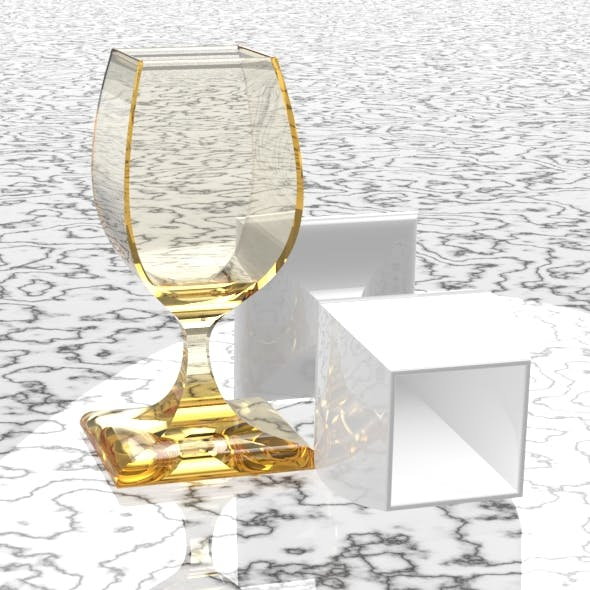 Square Wine Glass - 3DOcean Item for Sale