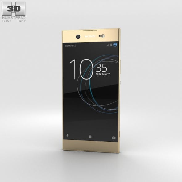 Sony Xperia XA1 Ultra Gold - 3DOcean Item for Sale