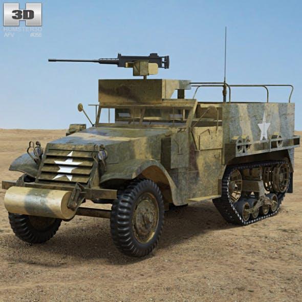 M3 Half-track - 3DOcean Item for Sale