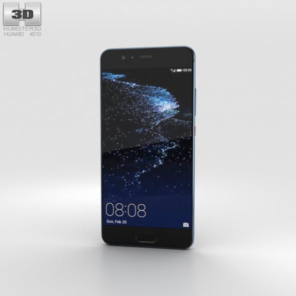 Huawei P10 Dazzling Blue - 3DOcean Item for Sale
