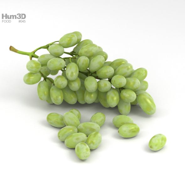 Green Grapes - 3DOcean Item for Sale
