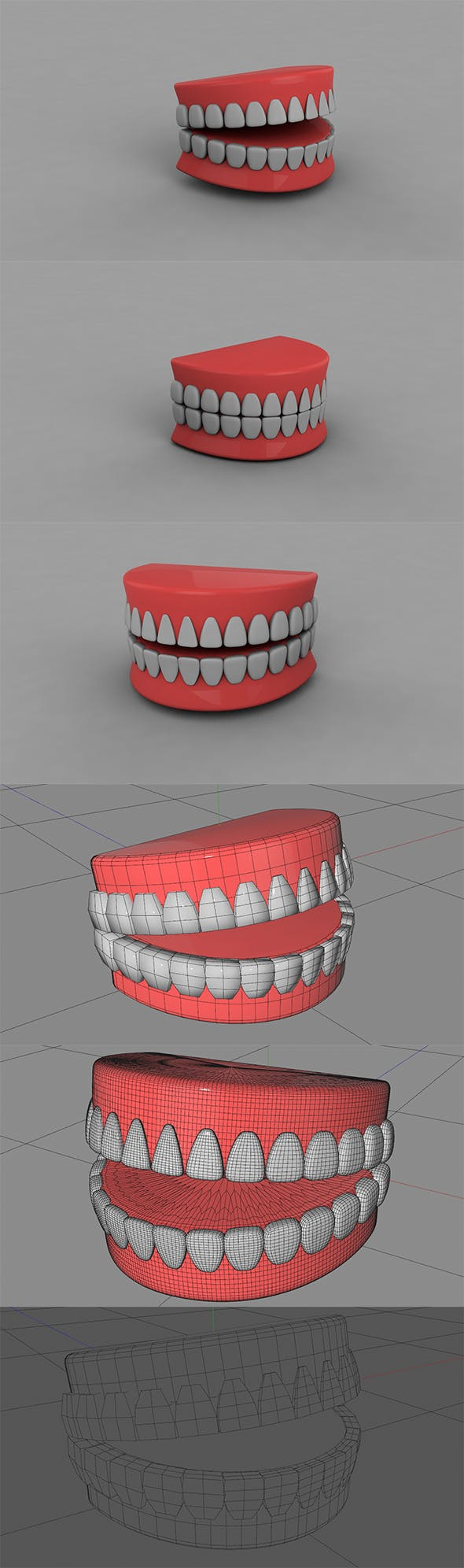 3D Teeth (Animated & Editable) - 3DOcean Item for Sale