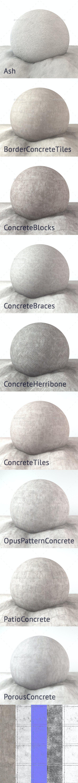 Concrete 4K Texture set 9 items - 3DOcean Item for Sale