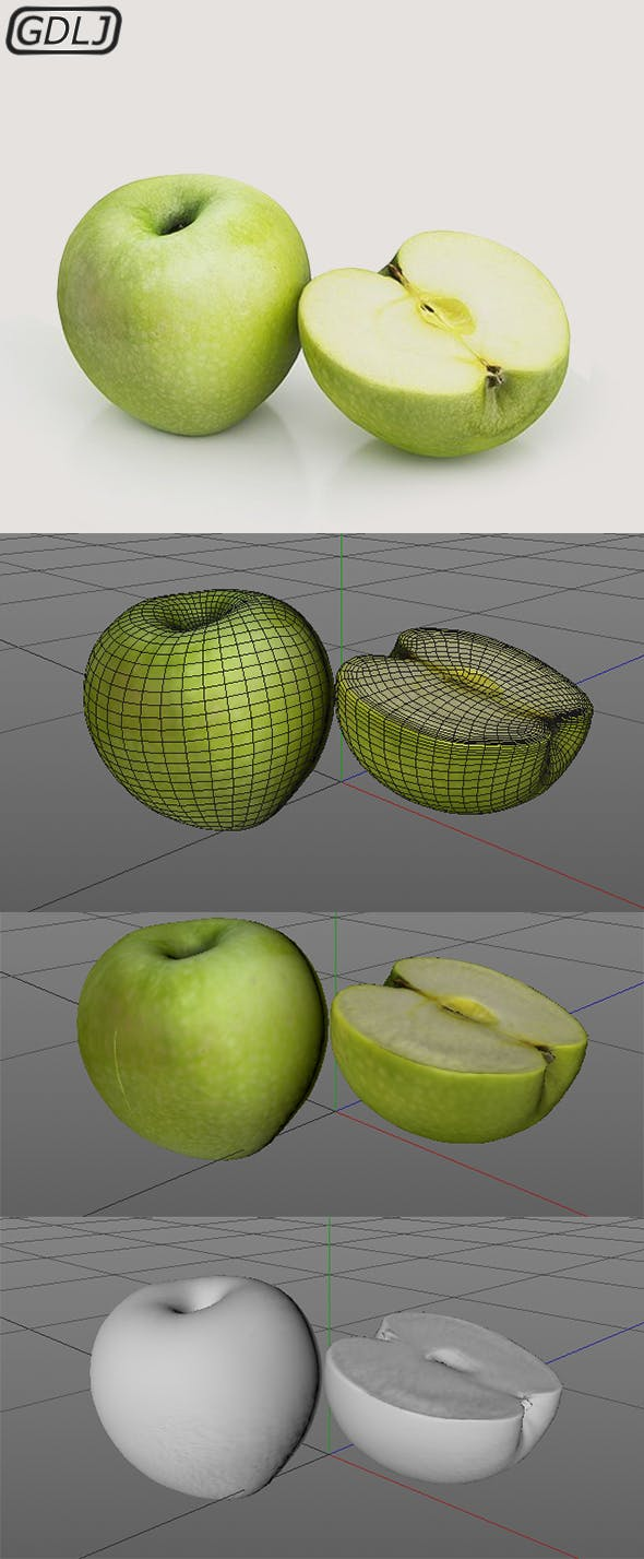 Apple [ close to reality ] - 3DOcean Item for Sale