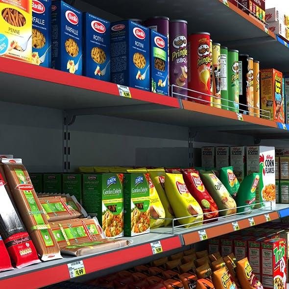 Supermarket Shelves Pack 3D model - 3DOcean Item for Sale
