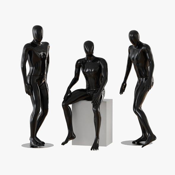 Black male mannequins 04 - 3DOcean Item for Sale