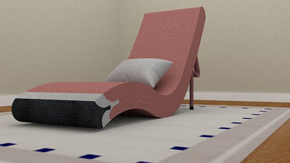 Flamingo Chaise long Chair - 3DOcean Item for Sale