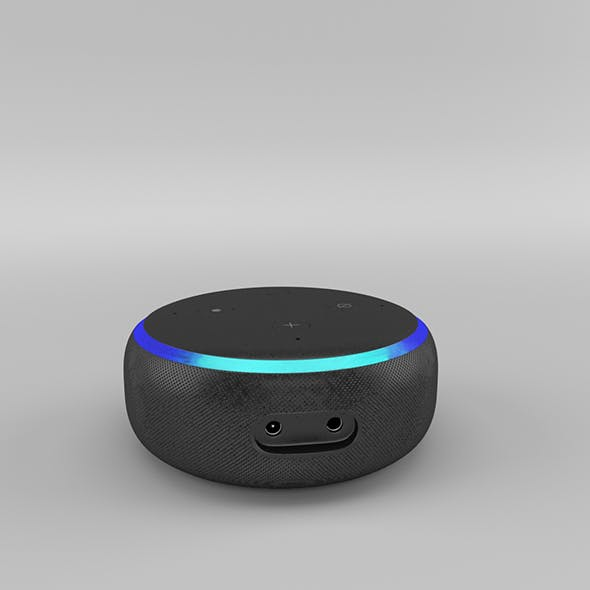 Amazon Echo Dot 3rd Generation (2018) - Charcoal - 3DOcean Item for Sale