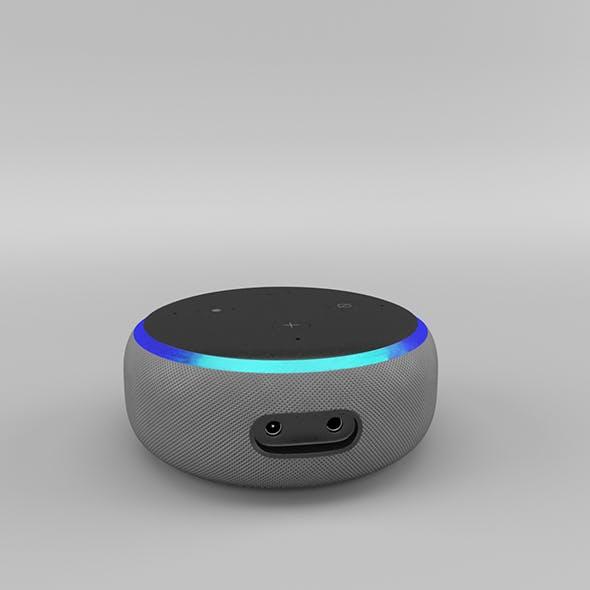 Amazon Echo Dot 3rd Generation (2018) - Heather Gray - 3DOcean Item for Sale