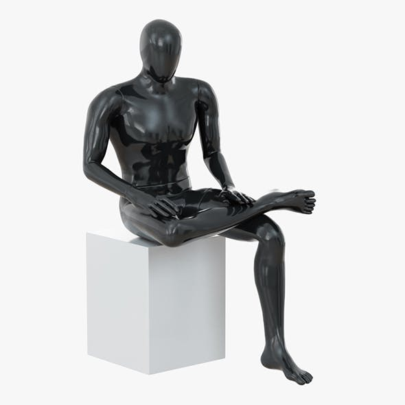 Abstract male mannequin sitting 05 - 3DOcean Item for Sale