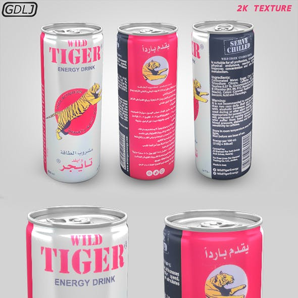 Wild Tiger - Energy drink - Soda Can