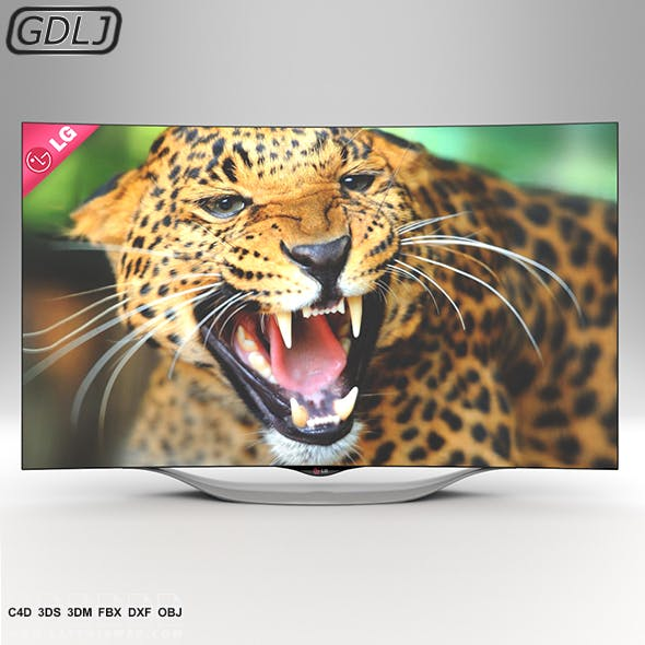 LG Curved OLED TV - 3DOcean Item for Sale