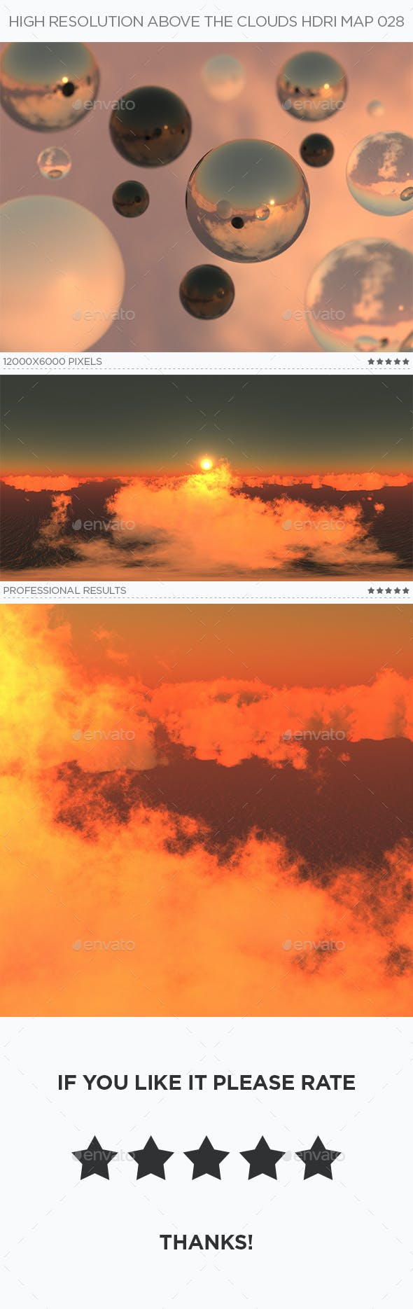 High Resolution Above The Clouds HDRi Map 028 - 3DOcean Item for Sale