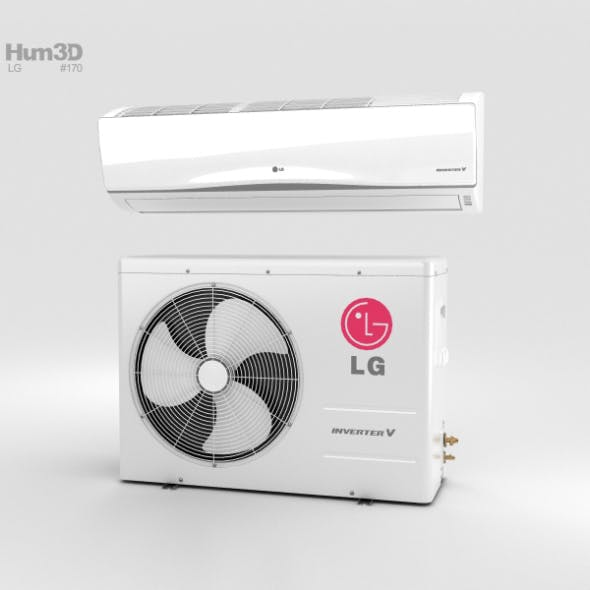 LG Air Conditioner - 3DOcean Item for Sale
