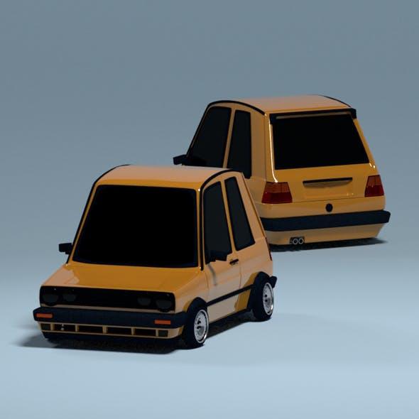 Stylized Car Golf mk2 - 3DOcean Item for Sale