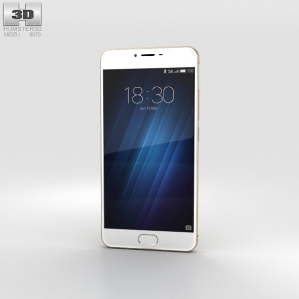 Meizu M3s Gold - 3DOcean Item for Sale