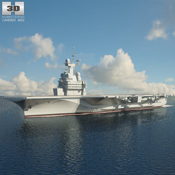 Charles de Gaulle aircraft carrier - 3DOcean Item for Sale