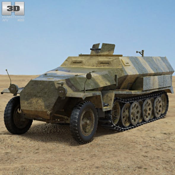 Sd.Kfz. 251 - 3DOcean Item for Sale