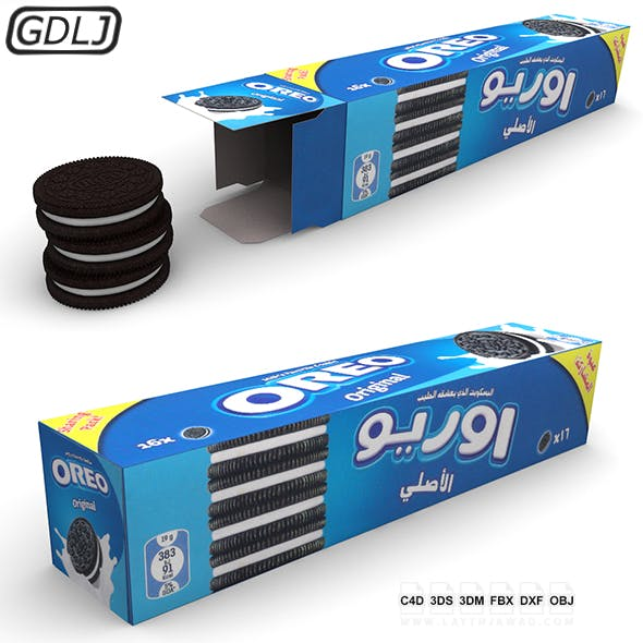 Oreo with Box - 3DOcean Item for Sale
