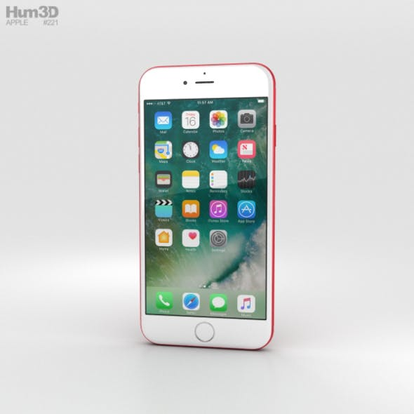 Apple iPhone 7 Red - 3DOcean Item for Sale