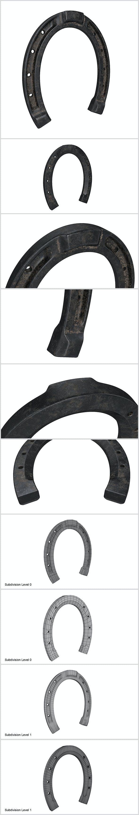 Horseshoe - 3DOcean Item for Sale