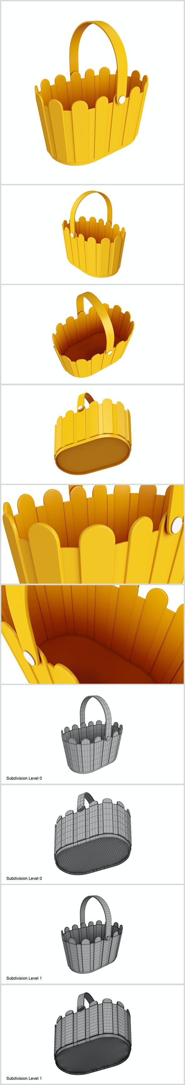 Plastic basket - 3DOcean Item for Sale