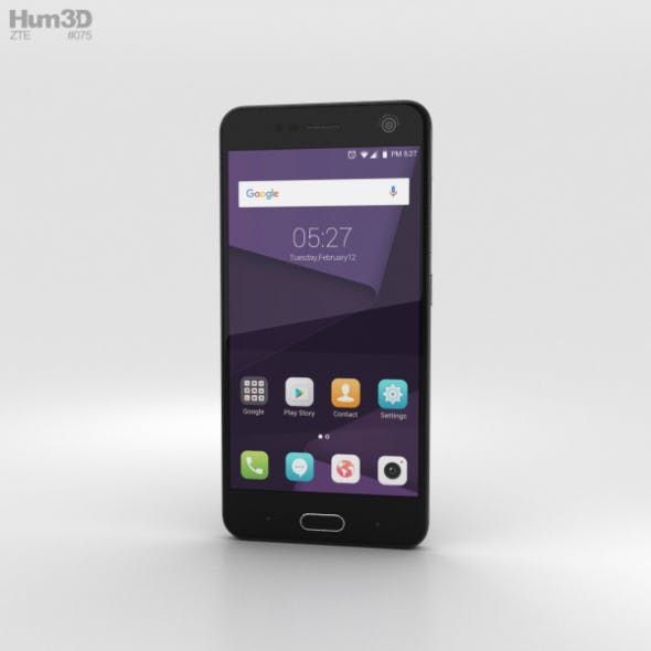 ZTE Blade V8 Dark Grey - 3DOcean Item for Sale