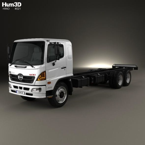 Hino 500 FC LWB Chassis Truck 2016 - 3DOcean Item for Sale