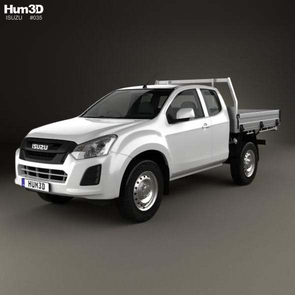 Isuzu D-Max Space Cab Alloy Tray SX 2017 - 3DOcean Item for Sale