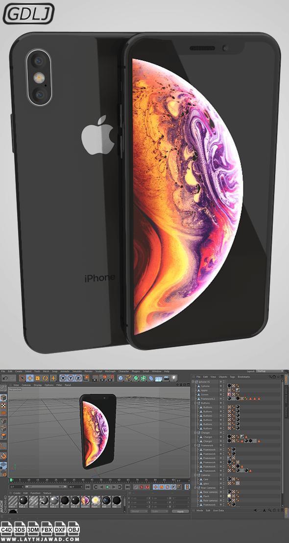 Iphone XS Black - 3DOcean Item for Sale