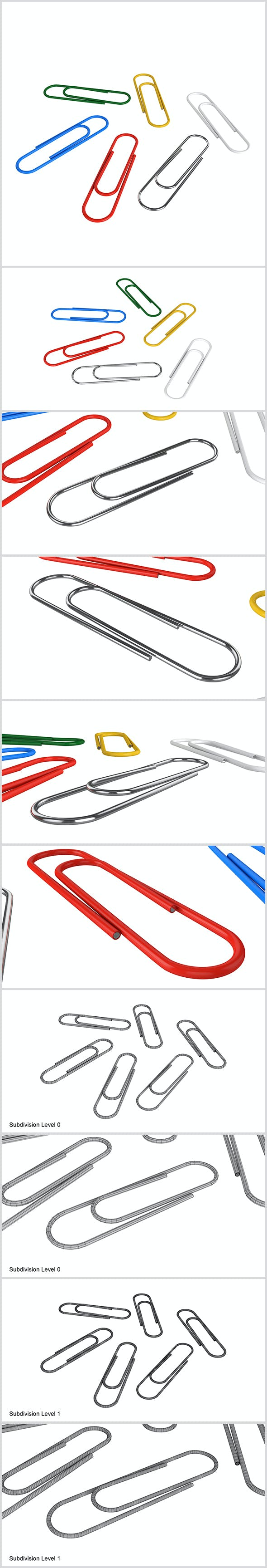Paper Clip - 3DOcean Item for Sale