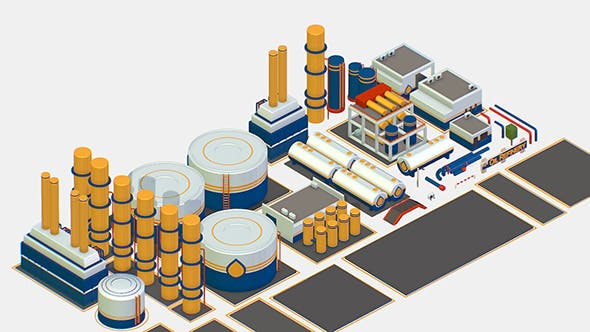 Isometric Oil Pipe Barrel Idustry Build Constructor - 3DOcean Item for Sale