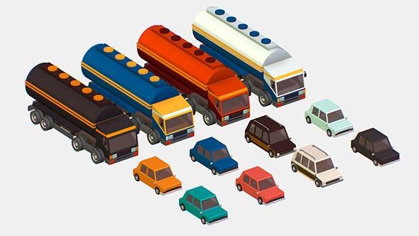 vehicle tank 3d model - 3DOcean Item for Sale