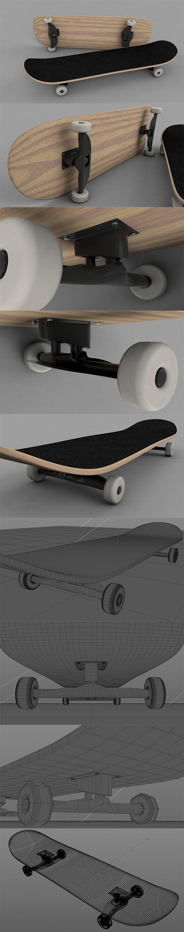 3D Skateboard - 3DOcean Item for Sale