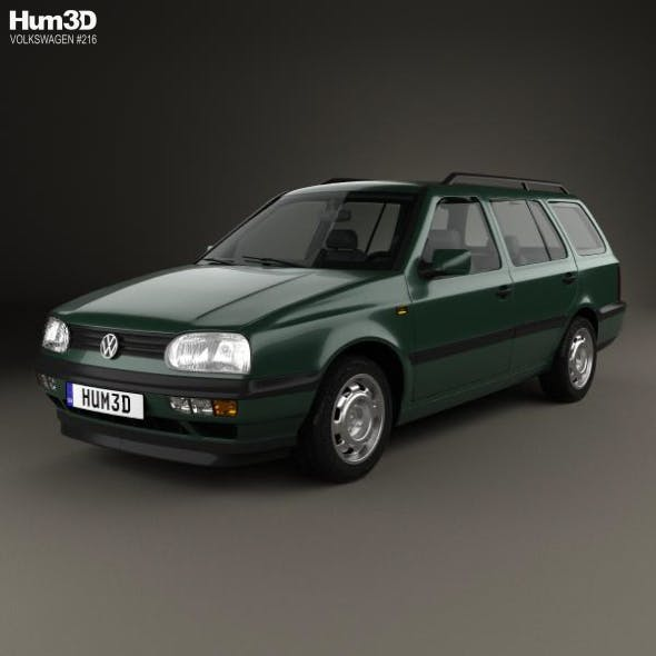 Volkswagen Golf Variant 1993 - 3DOcean Item for Sale