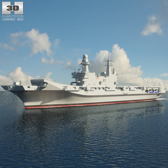Cavour aircraft carrier - 3DOcean Item for Sale