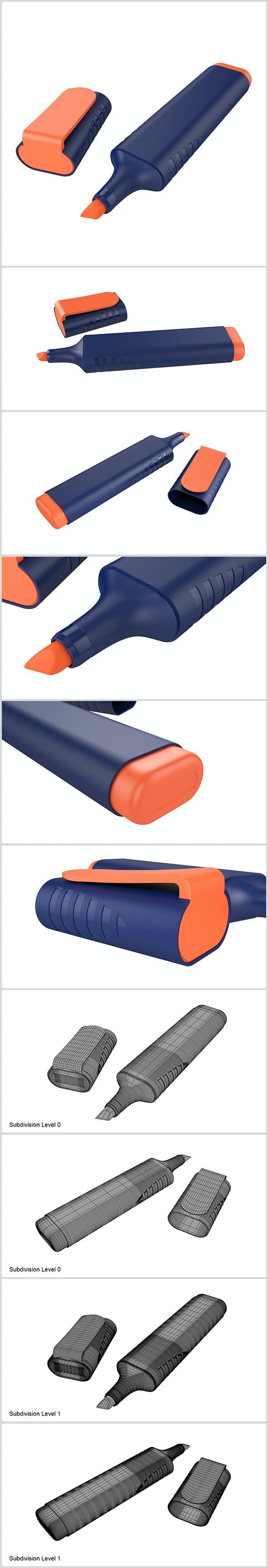 Highlighter Pen - 3DOcean Item for Sale