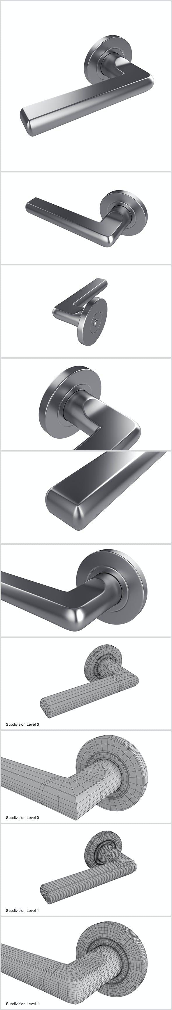 Door handle - 3DOcean Item for Sale