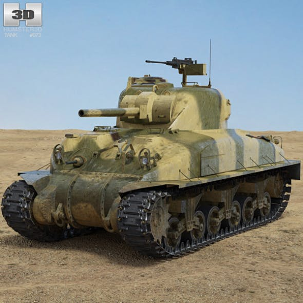 M4A1 Sherman - 3DOcean Item for Sale