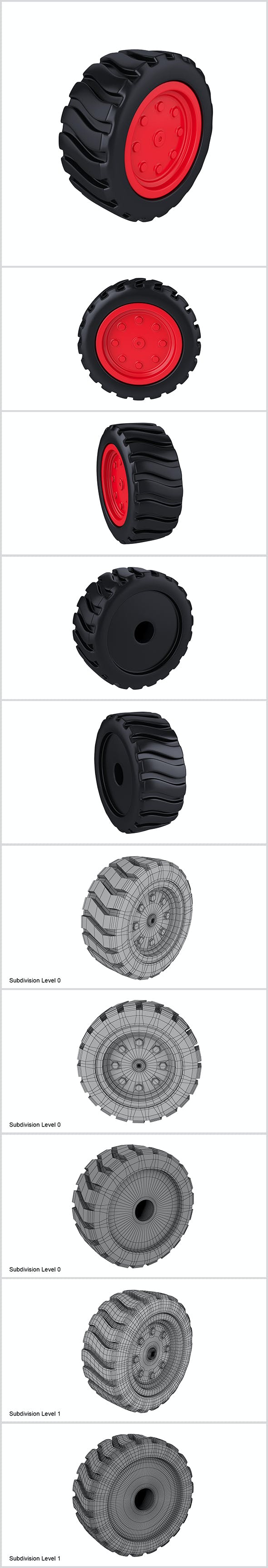Cartoon wheel for toys - 3DOcean Item for Sale