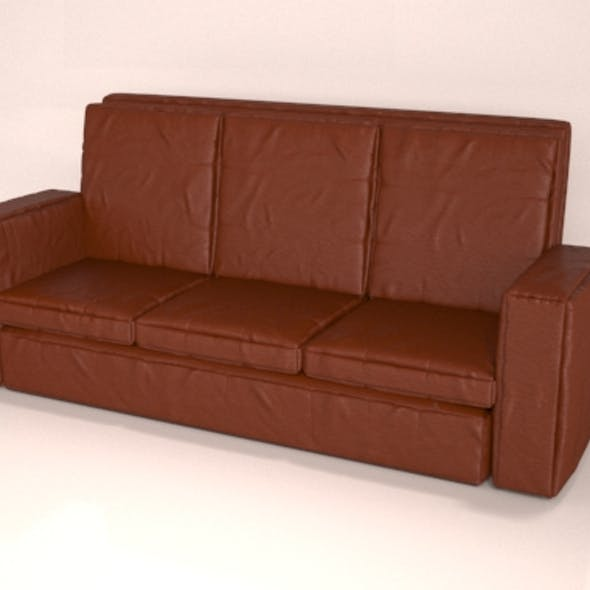 Leather Brown  Sofa