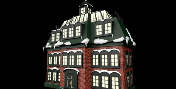 Christmas Vacation Inspired Advent Calendar House - 3DOcean Item for Sale