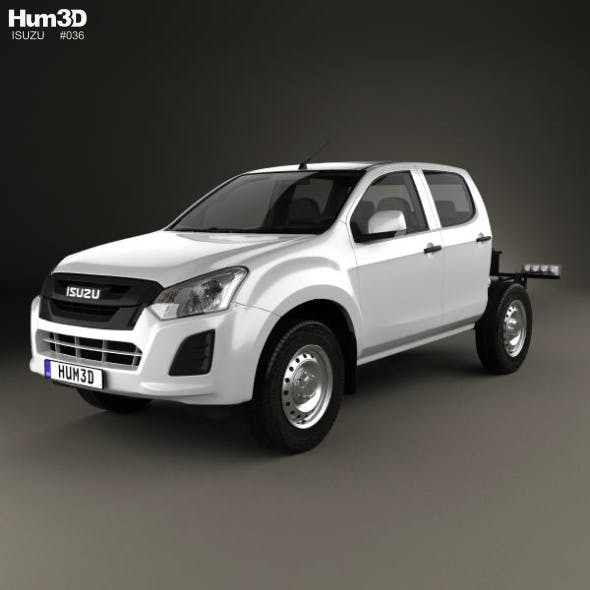 Isuzu D-Max Double Cab Chassis SX 2017 - 3DOcean Item for Sale