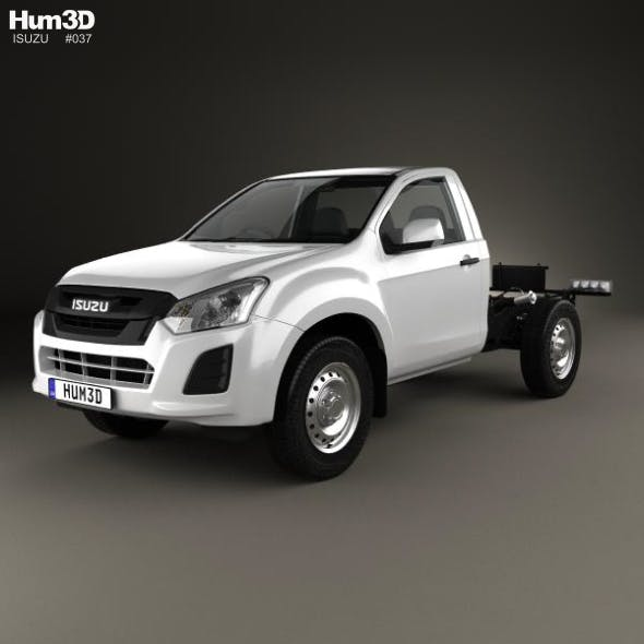Isuzu D-Max Single Cab Chassis SX 2017 - 3DOcean Item for Sale
